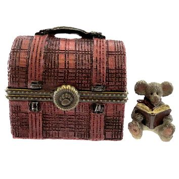 Boyds Bears Resin MATTHEW'S LUNCHBOX WITH CRUMB Treasure Box School 4029452