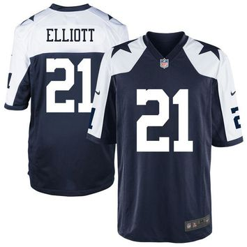 Youth Dallas Cowboys Ezekiel Elliott Nike Navy Alternate Game Jersey