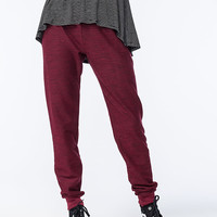 Full Tilt Surplus Waist Womens Jogger Pants Wine  In Sizes