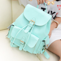 Fashion College Style Mint Green Backpack from ChicCasesAndHomeProducts