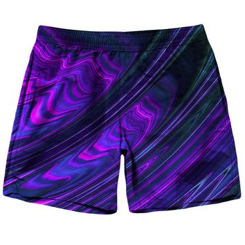 Purple Waves Shorts