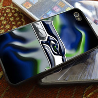 seattle seahawks green and blue flame iPhone 4 4S iPhone 5 5S 5C and Samsung Galaxy S2 S3 S4 Case