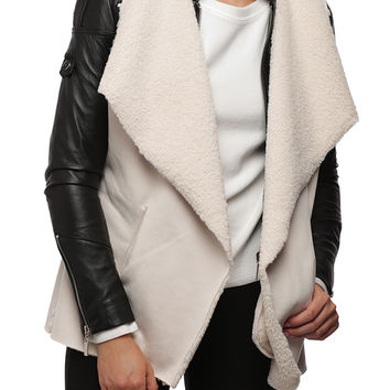 Faux Suede Vest with Pockets
