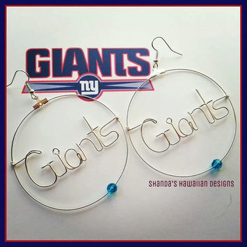 Football Team Name Wire Writing Earrings
