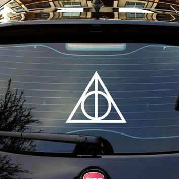 Harry Potter Deathly Hallows Vinyl Car Window Decals Stickers