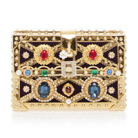 Embellished Wood Box Clutch | Moda Operandi