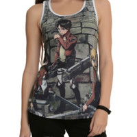Attack On Titan Trio Sublimation Girls Tank Top