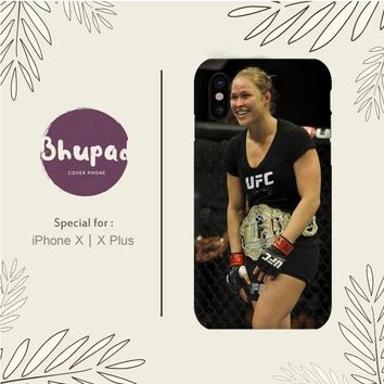 RONDA ROUSEY STOPS SARA MCMANN IN 66 SECONDS IPHONE X