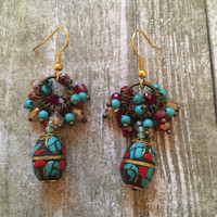 Gorgeous boho beaded earrings