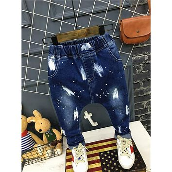 Children Broken Hole Pants Baby Boy Skinny Jeans Causal Denim Pants Children Jeans Hole Infant kids Trousers Autumn Boys Jeans