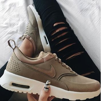 2018 Original Nike Air Max Thea Premium Desert Camo Casual Sports Shoes