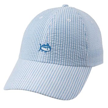 Seersucker Skipjack Hat in Sky Blue by Southern Tide