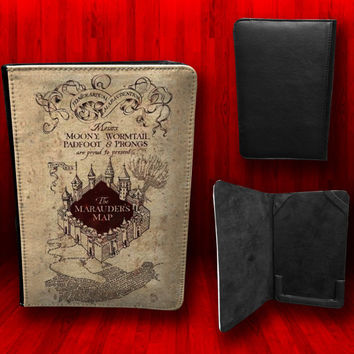 Harry Potter The Marauders Map Leather Nook Color by CustomizeMeAz