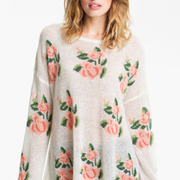 Wildfox Rose Slouchy Sweater | Nordstrom