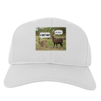 Angry Standing Llamas Adult Baseball Cap Hat by TooLoud