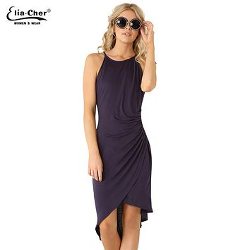 Women Dress  New summer dresses casual women Clothing sexy and Solid Tank dresses Plus Size 6070