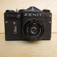 Vintage Soviet Camera Zenit TTL Industar-50-2, Russian Camera Zenit TTL 35 mm film, Made in USSR