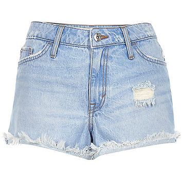 Light blue Ruby denim shorts - denim shorts - shorts - women