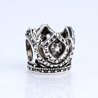 2016 New DIY Accessories Brand Crown Crystals Charms Fit Pandora Bracelets Fashion jewelry A5306