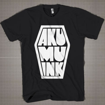 AKUMU INK  Mens and Women T-Shirt Available Color Black And White