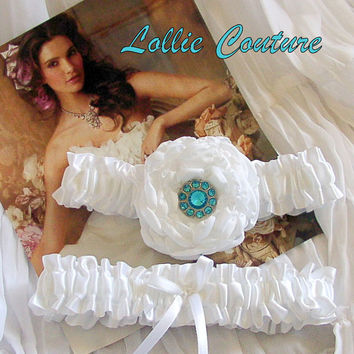 Wedding Garter Vintage Garter Bridal Garter by lolliecouture