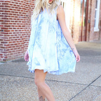 get your groove on dress - light blue
