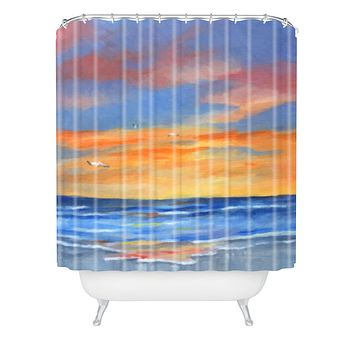 Rosie Brown Sunset Reflections Shower Curtain