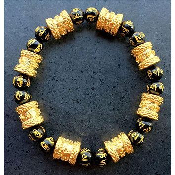 16pcs Barrel beads bracelets for men women