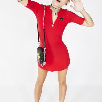 Cherry Oh Baby Baby Ribbed Dress