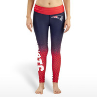 New England Patriots Womens Gradient Official NFL Print Leggings