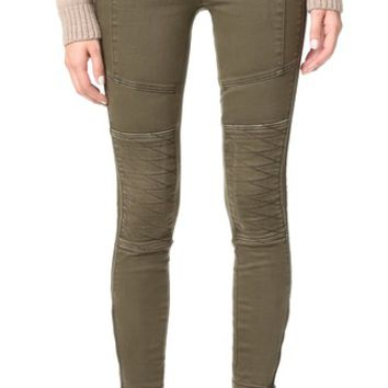 Stretch Midnight Magic Moto Skinny Jeans