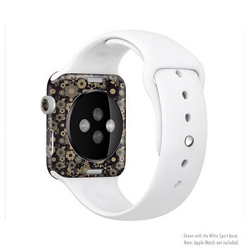 The Tiny Gold Floral Sprockets Full-Body Skin Set for the Apple Watch