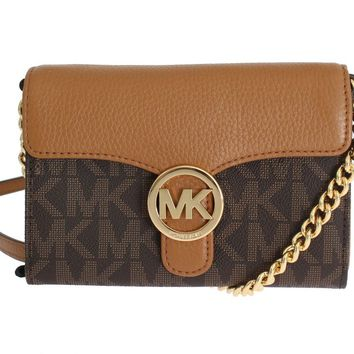 Brown VANNA Leather Crossbody Handbag