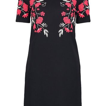 Camy Floral Printed Shift Dress | Boohoo