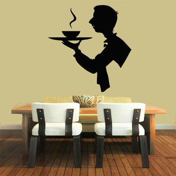 Wall Decals Vinyl Decal Sticker Art Murals Kitchen Decor Chef Coffee Time Kj581