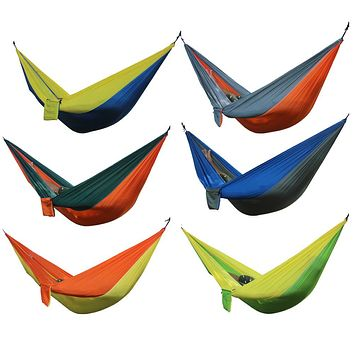 Double-Person Portable Outdoor Parachute Hammock