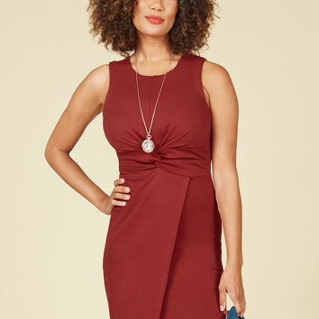 Meeting Maven Sheath Dress in Rust | Mod Retro Vintage Dresses | ModCloth.com