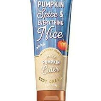 Bath & Body Works PUMPKIN SPICE & EVERYTHING NICE Body Cream 8 oz