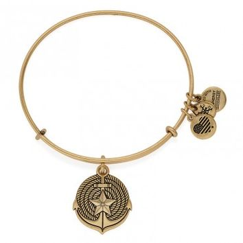 Anchor Charm Bangle