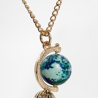 ASOS Globe Charm Long Necklace