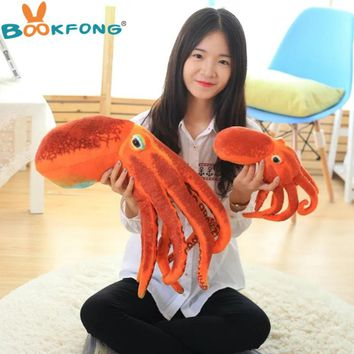 BOOKFONG Octopus Plush Toys Dolls the cute Pillow Seat Cushion Backrest the stuffed toys for children Christmas gifts
