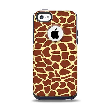 The Simple Vector Giraffe Print Apple iPhone 5c Otterbox Commuter Case Skin Set