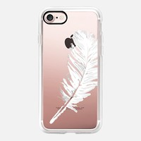 lovely white feather iPhone 7 Carcasa by Julia Grifol Diseñadora Modas-grafica | Casetify