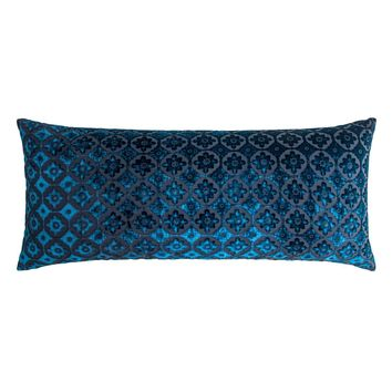 Small Moroccan Cobalt Black Pillows by Kevin O'Brien Studio