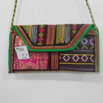 Banjara Clutch Bag Indian Hobo Ethnic Embroidery Cross Body Women's Handbag MK23