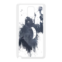 Wolf Song 3 White Hard Plastic Case for Galaxy Note 4 by Balazs Solti