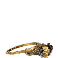 Alexander McQueen Metal Claw Skull Studded Bangle