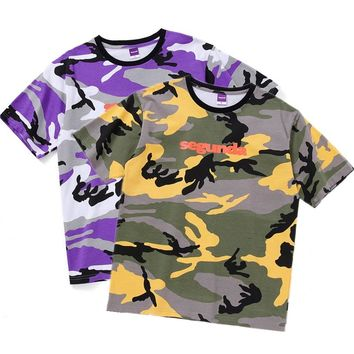 YouthCodes Segunda Military Army T Shirt Navy Air Force Camouflage Camo Kanye West Preppy Camiseta Hombre Dark Souls Tee M