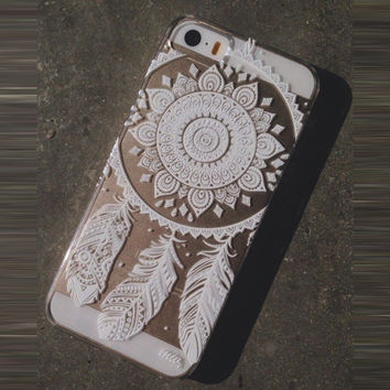 Henna Ojibwe Dream Catcher Ethnic Tribal Case Cover for iPhone 5C
