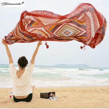 Yamala Indian Hippie Tapestry Mandala Beach Yoga Mat Bohemian Wall Tapestry Colored Printed Decorative Shawls Scarves
